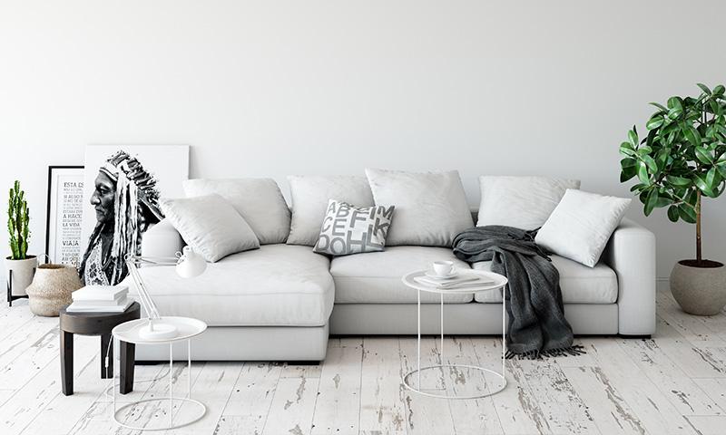 Tendencia sofá color blanco