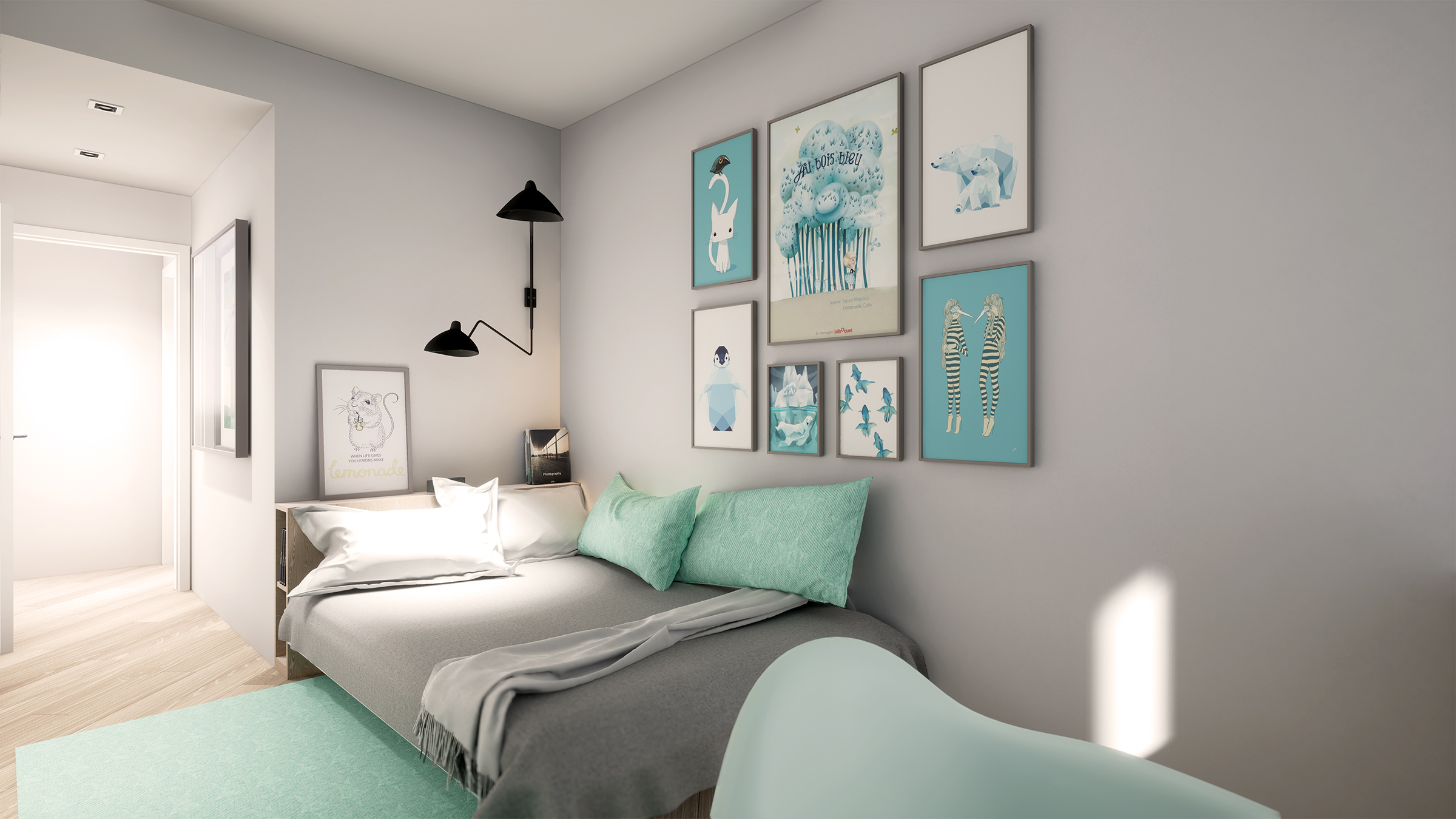 Dormitorio infantil esparza arquitectura